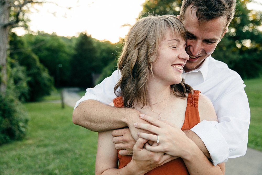 Woodsy Rustic Engagement Session in Ohio