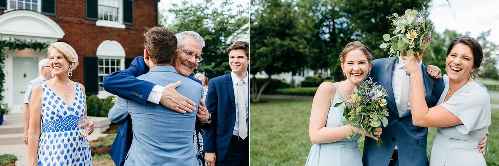 Authentic Photographs at a Backyard Wedding
