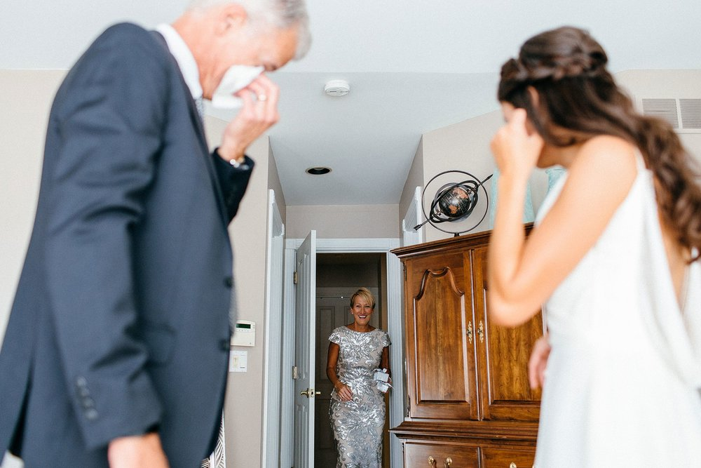 Father Daughter Moments from an Intimate Wedding