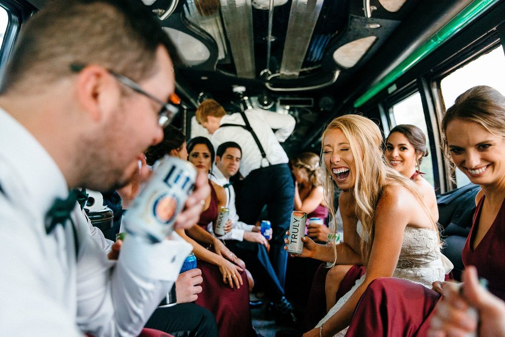 Wedding Day Celebration and Fun with Bridal Party