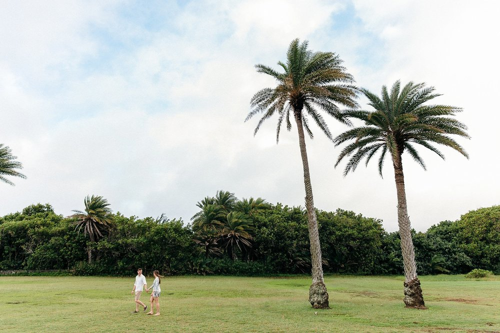 Tropical Engagement Photos on Oahu