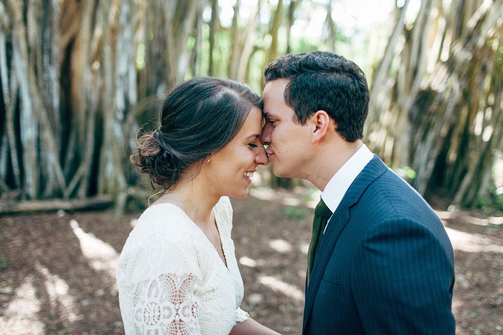 Waimea Valley Elopement - La'ie Temple Wedding