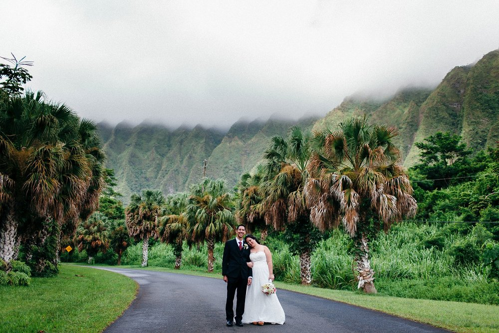 Amanda & Josh got married at Ho'omaluhia Botanical Gardens with their closest friends and family