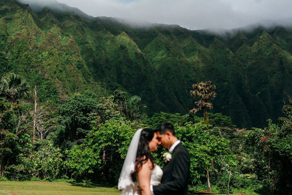 Ho'omaluhia Mountain Wedding - A Small Hawaii Elopement