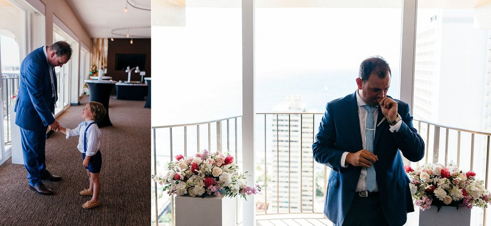 Small personal, emotional Hawaii Elopement at Hilton Waikiki in Altitude 37