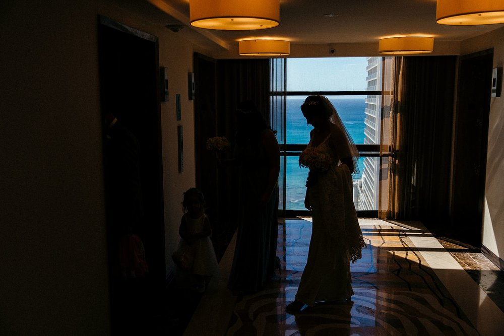 Getting Ready Images from a Waikiki Wedding