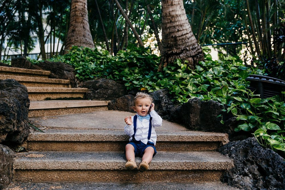 Kids on wedding days - a Waikiki Elopement at the Hilton Honolulu