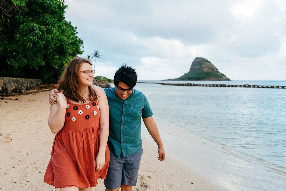 Kualoa Ranch Secret Beach Engagement Session