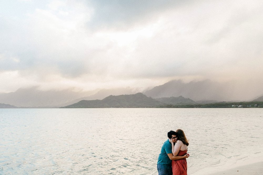 Emotional Surprise Proposal at Chinaman's Hat in Kualoa