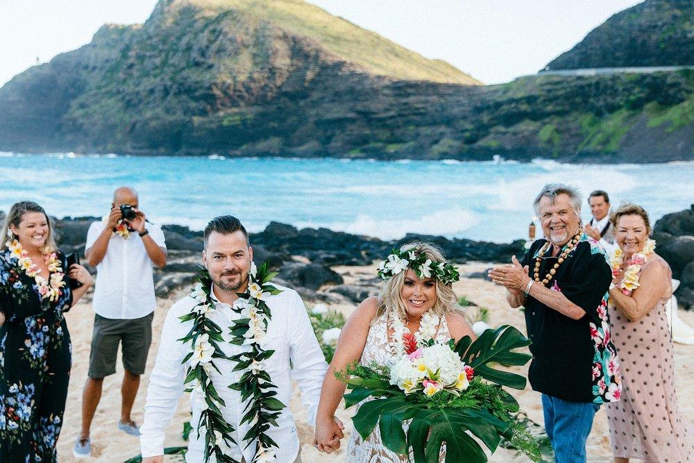 Micro wedding in Waimanalo on the beach