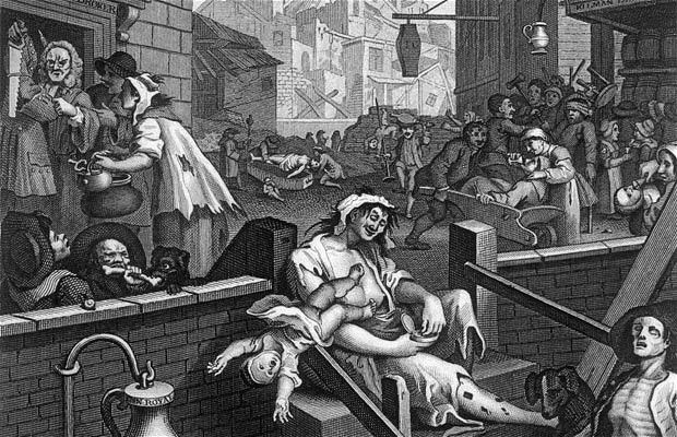 """Gin Lane"", William Hogarth 1751"