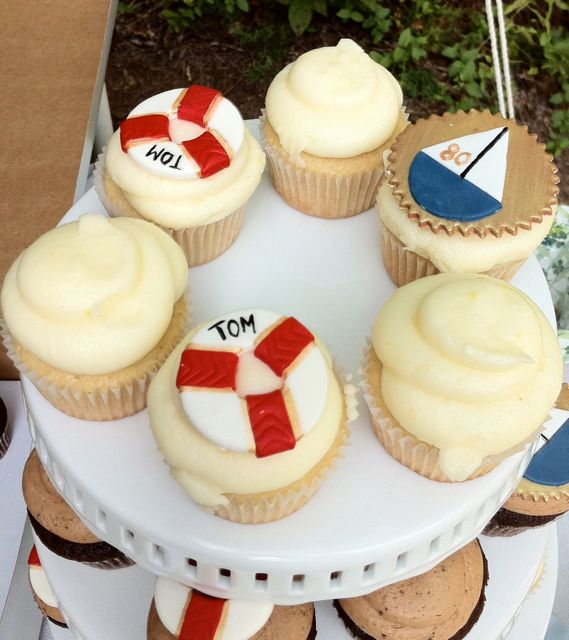 Assorted Nautical Cupcakes