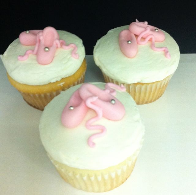 Ballet Slippers Cupcakes