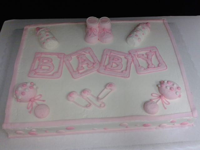 Baby Items Sheet Cake