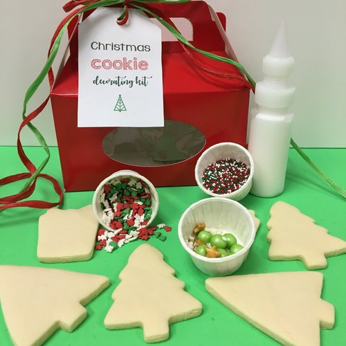 individual christmas cookie decorating kit