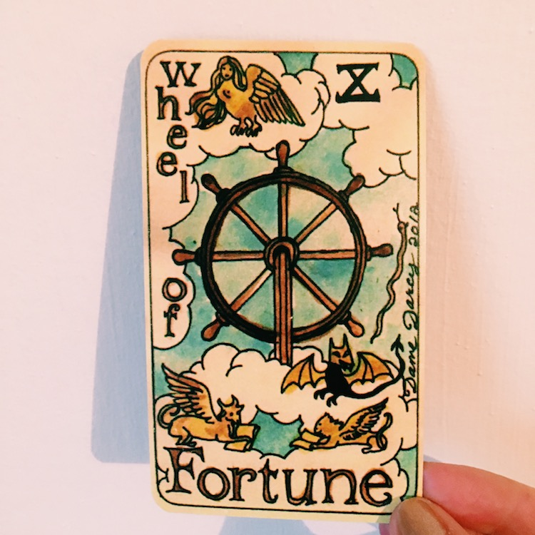 A Love Letter To The Wheel Of Fortune Two Sides Tarot