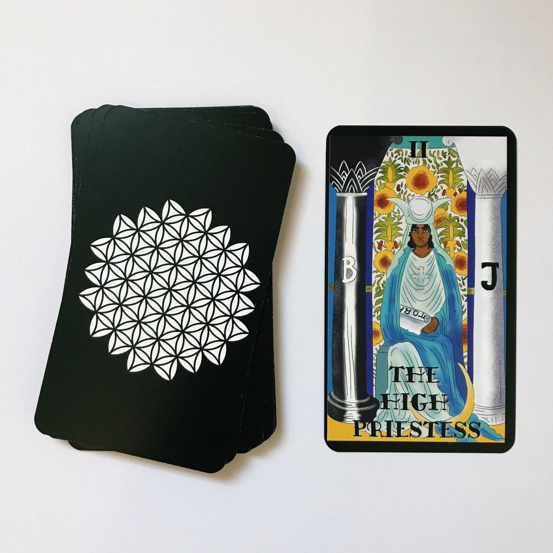 Melanated Classic Tarot High Priestess Australia