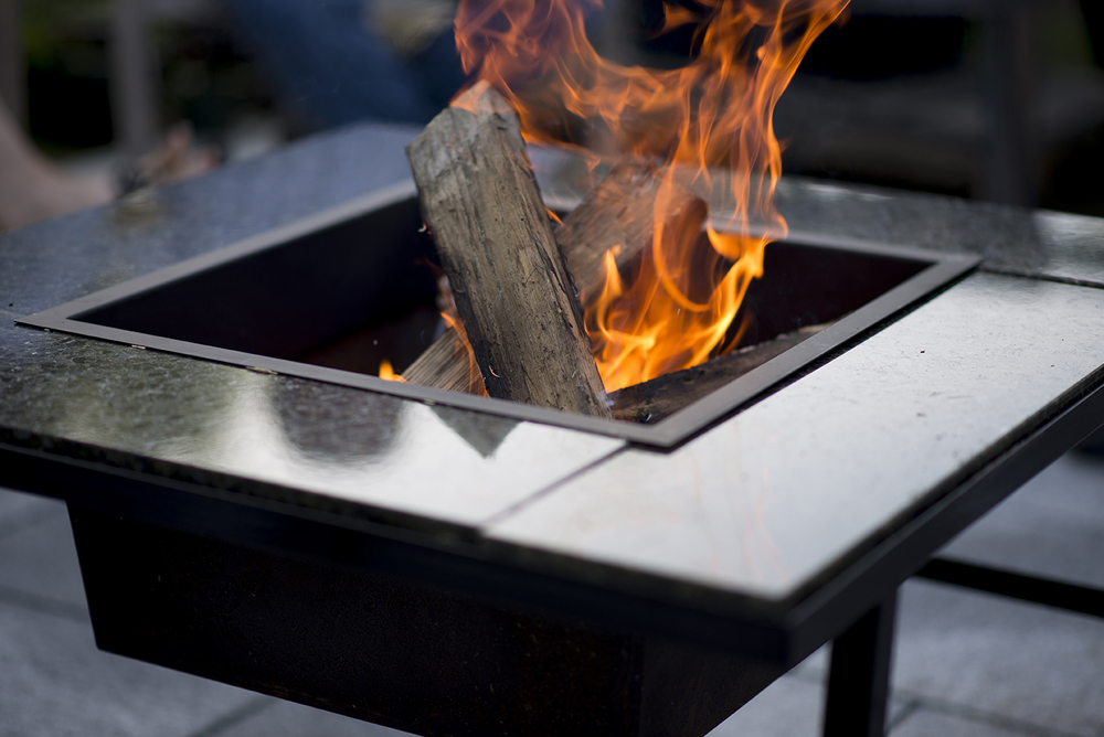 KSV 4 In 1 Fire Pit Standard Package            This kit includes the frame, stainless-steel fire pan, stainless-steel safety sleeve and your choice of granite inlays. Hand-welded in NH and guaranteed for 10 years.