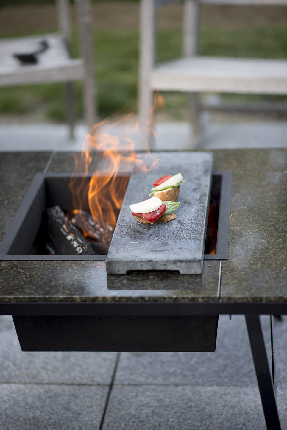Soapstone  add-on to KSV Fire Pit                      If you saute more than you grill you might want to consider our soapstone for preparing the food you most enjoy in life