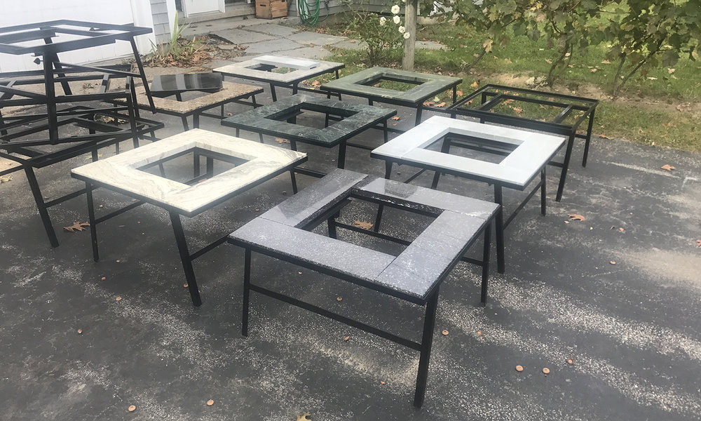 Granite table overlay come in a variety of beautiful patio colors