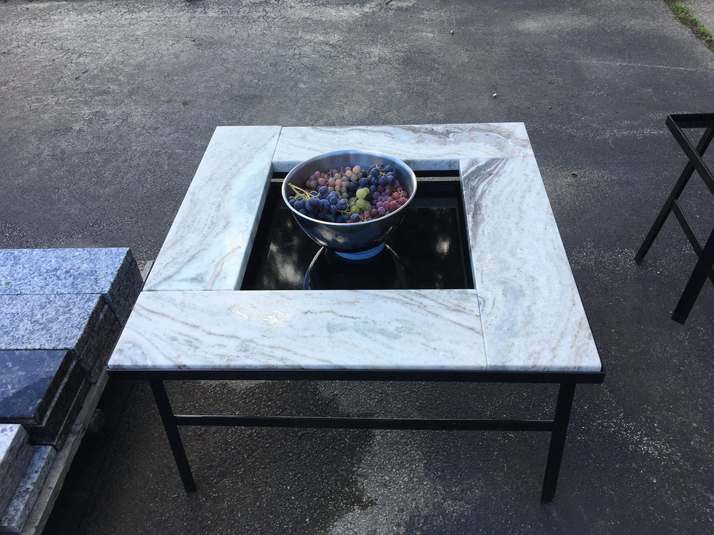 Black 2-tier Table Top and can be used as a Snow Cover             $75
