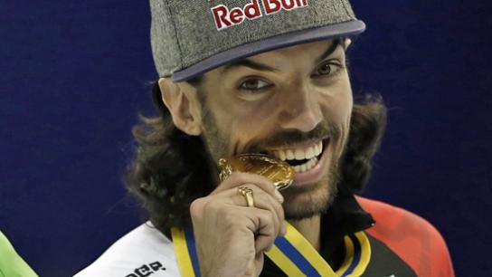 Charles et sa médaille d'or bien méritée!