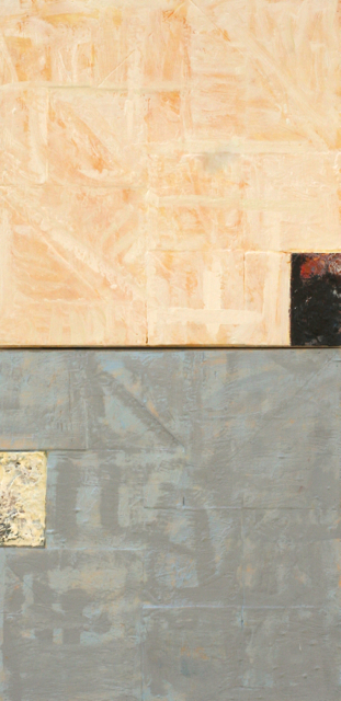 "xen 1 - encaustic and oil on panel  21"" x 42"""
