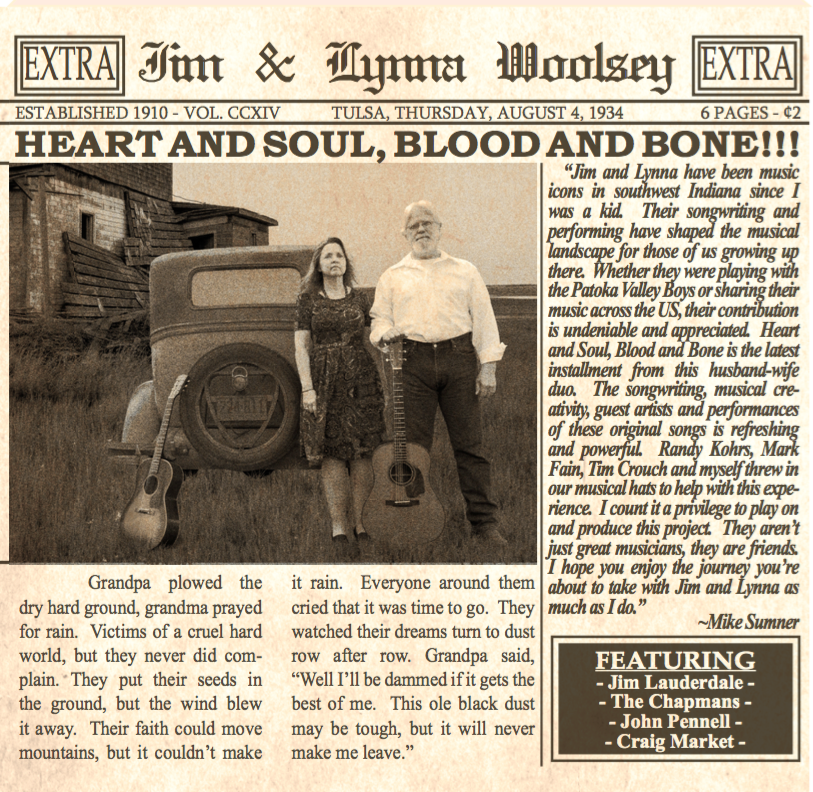 Heart And Soul, Blood And Bone – Jim and Lynna Woolsey