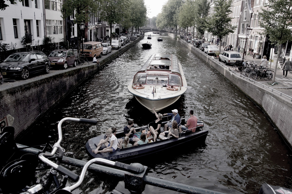 Amsterdam and the beautiful canals.