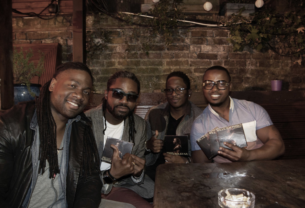 With my London mate Pessi Chinda (my left) and friends after a show.