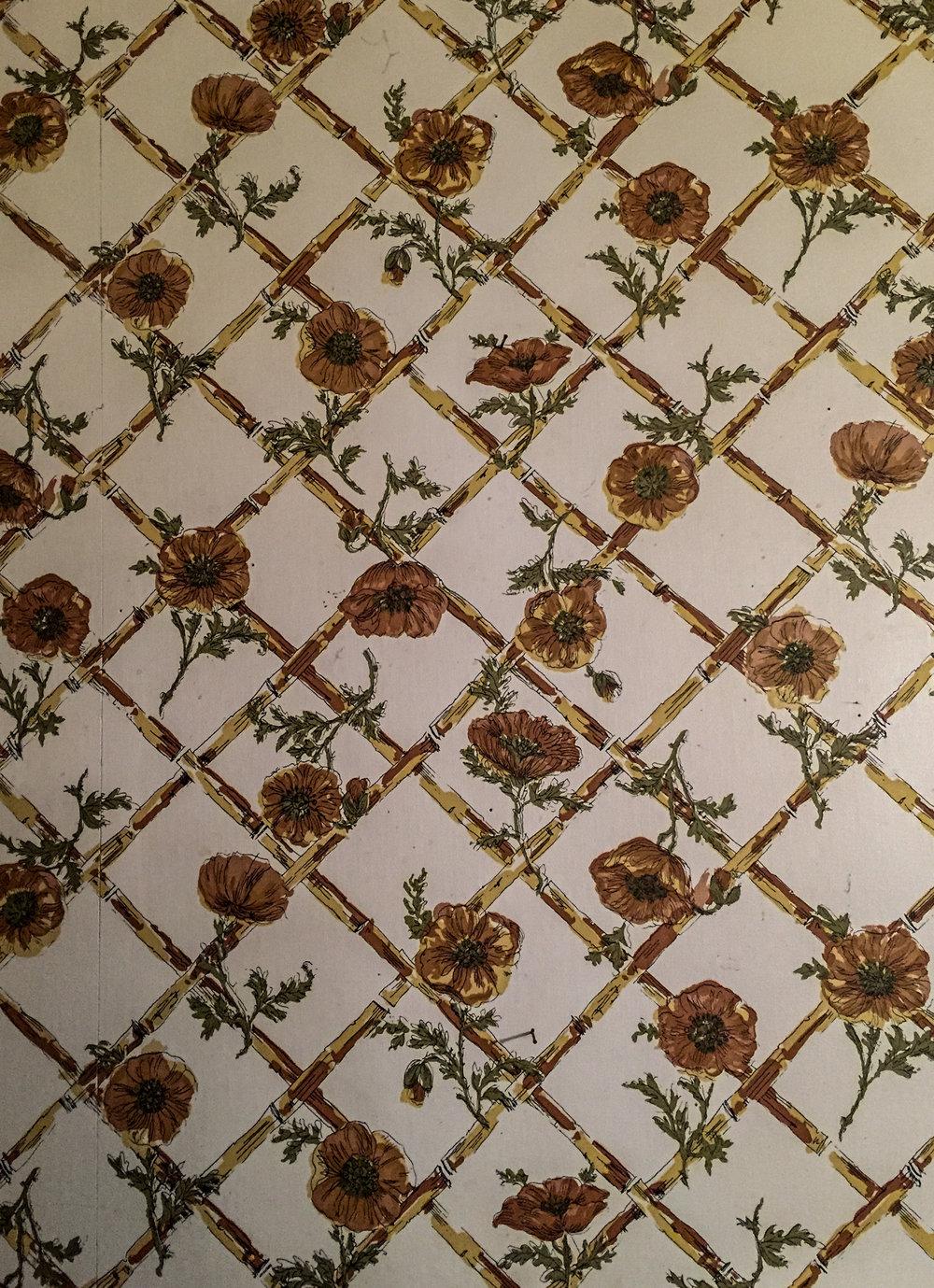 "The wallpaper in ""Mimi's"" kitchen."