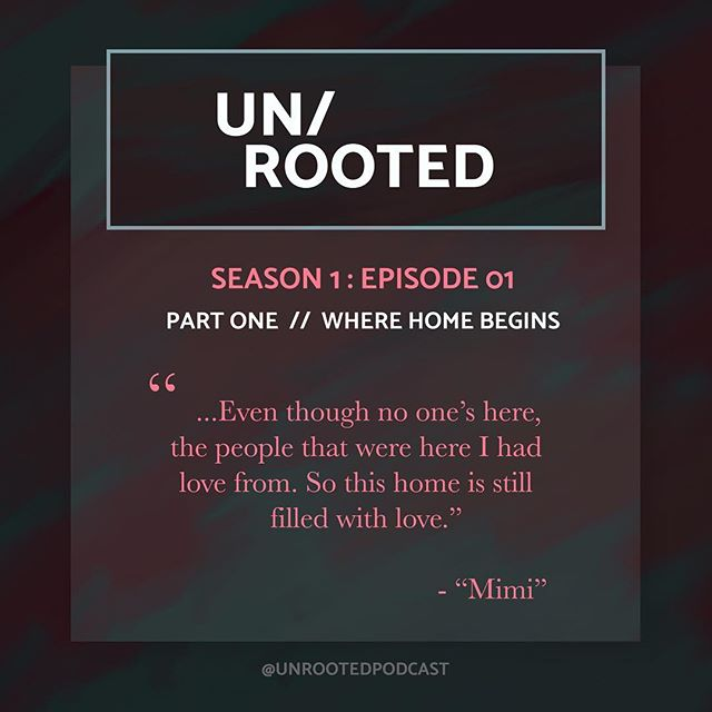 """If you haven't already listened to the first episode of UN/ROOTED, give it a listen. One of the people I had the pleasure of interviewing for this episode was my grandma, """"Mimi."""" Interviewing her was such a treat, and now I have priceless recordings of her! (This makes me want to interview every single person in my life that I love: friends, co-workers, family, etc. So obviously, my advice to myself and to you is: ask loved ones if you can record a conversation, even if it's just a voice memo on your phone, even if it's just a lighthearted conversation. 💕) •  Also, tell your friends about UN/ROOTED! • #unrootedpodcast #whereishome #homeis #whatishome #podcast #newpodcast #interviewinggrandma #findinghome"""