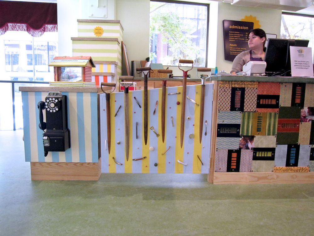 Reception Desk  |  Tom Loeser and Bird Ross  |  Madison Children's Museum  |  2010
