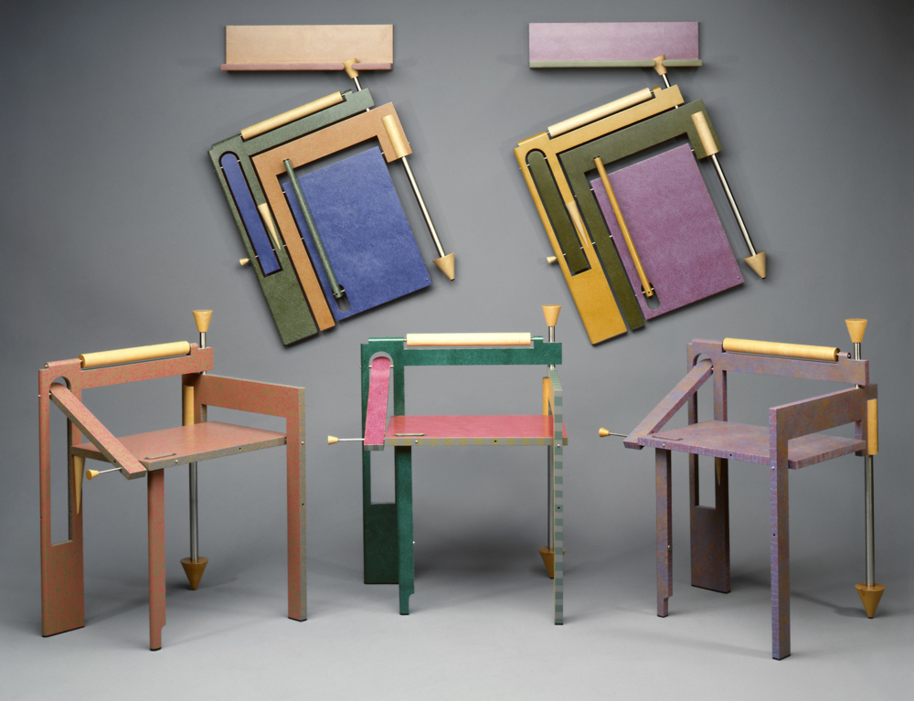Folding Chairs  |  1987-89  I  wood, steel, paint  I  34 x 25 x 22