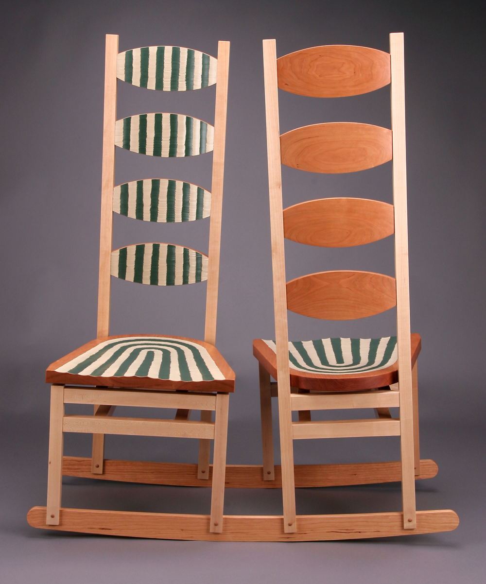 Double Rocker Reverse Facing  |  2005  |  wood, paint  |  51 x 44 x 18