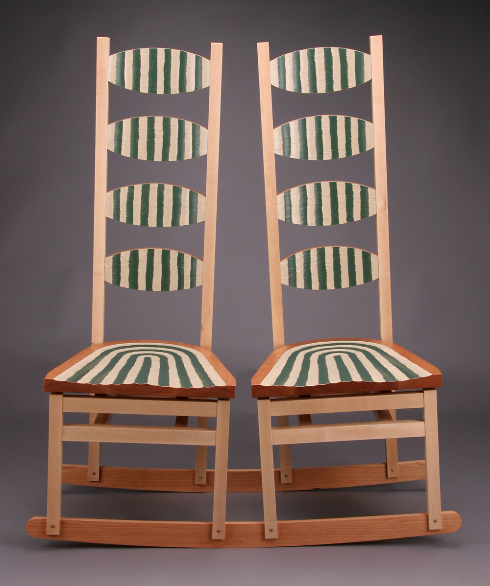 Double Rocker Inward Leaning  |  2005  |  wood, paint  |  51 x 44 x 18