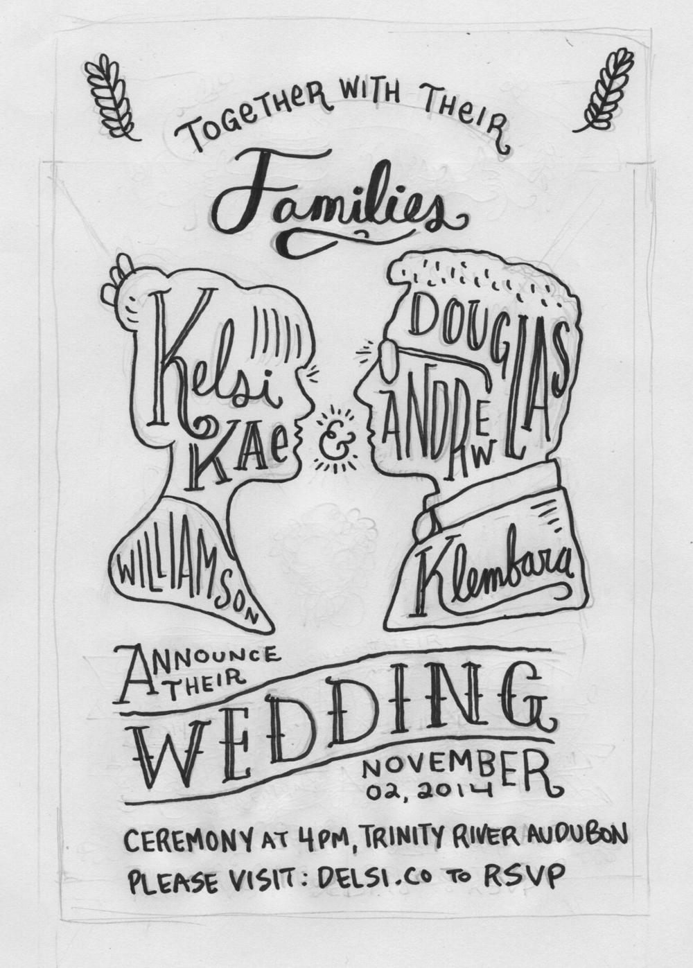 Delsi Wedding Invitations — Kyle Steed