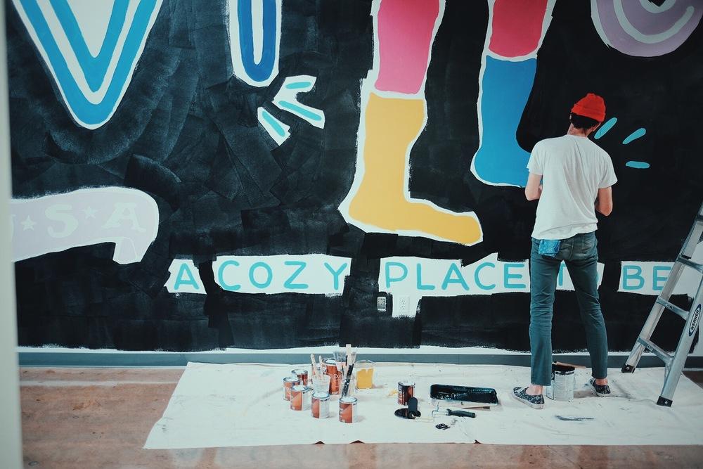 Foot Cardigan Mural Detail by Kyle Steed