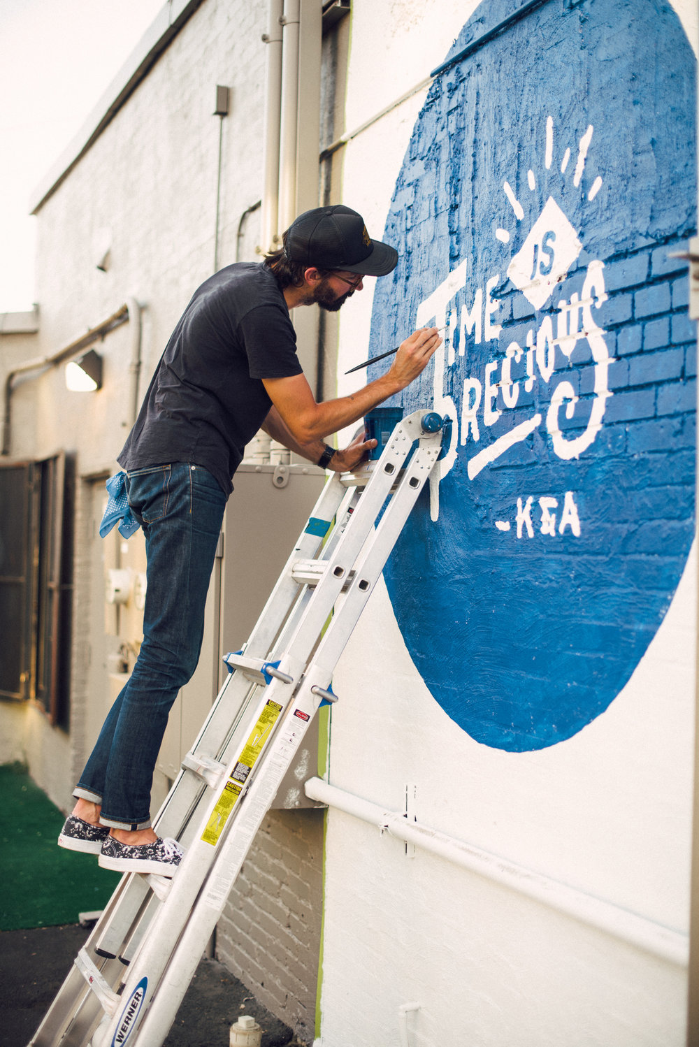 Time is Precious Mural for Kit and Ace by Kyle Steed