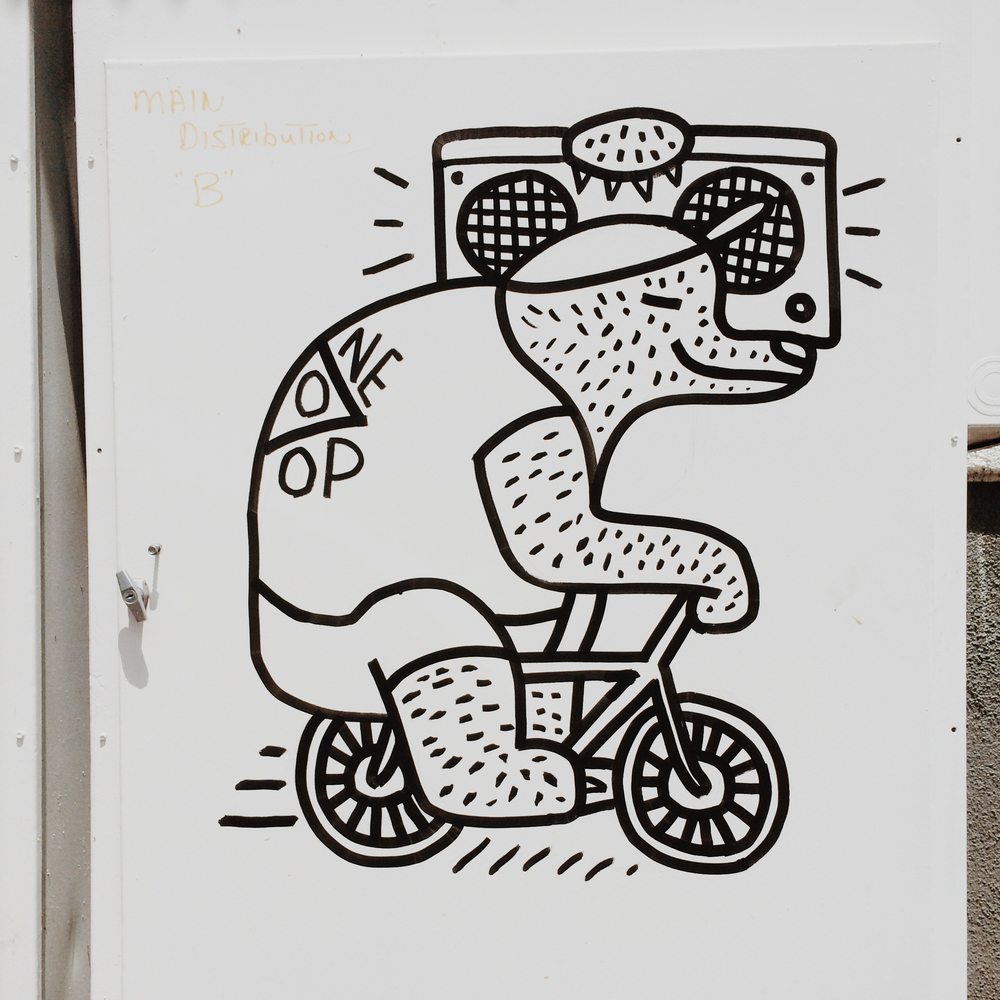 Bear Bikes with Boombox by Kyle Steed