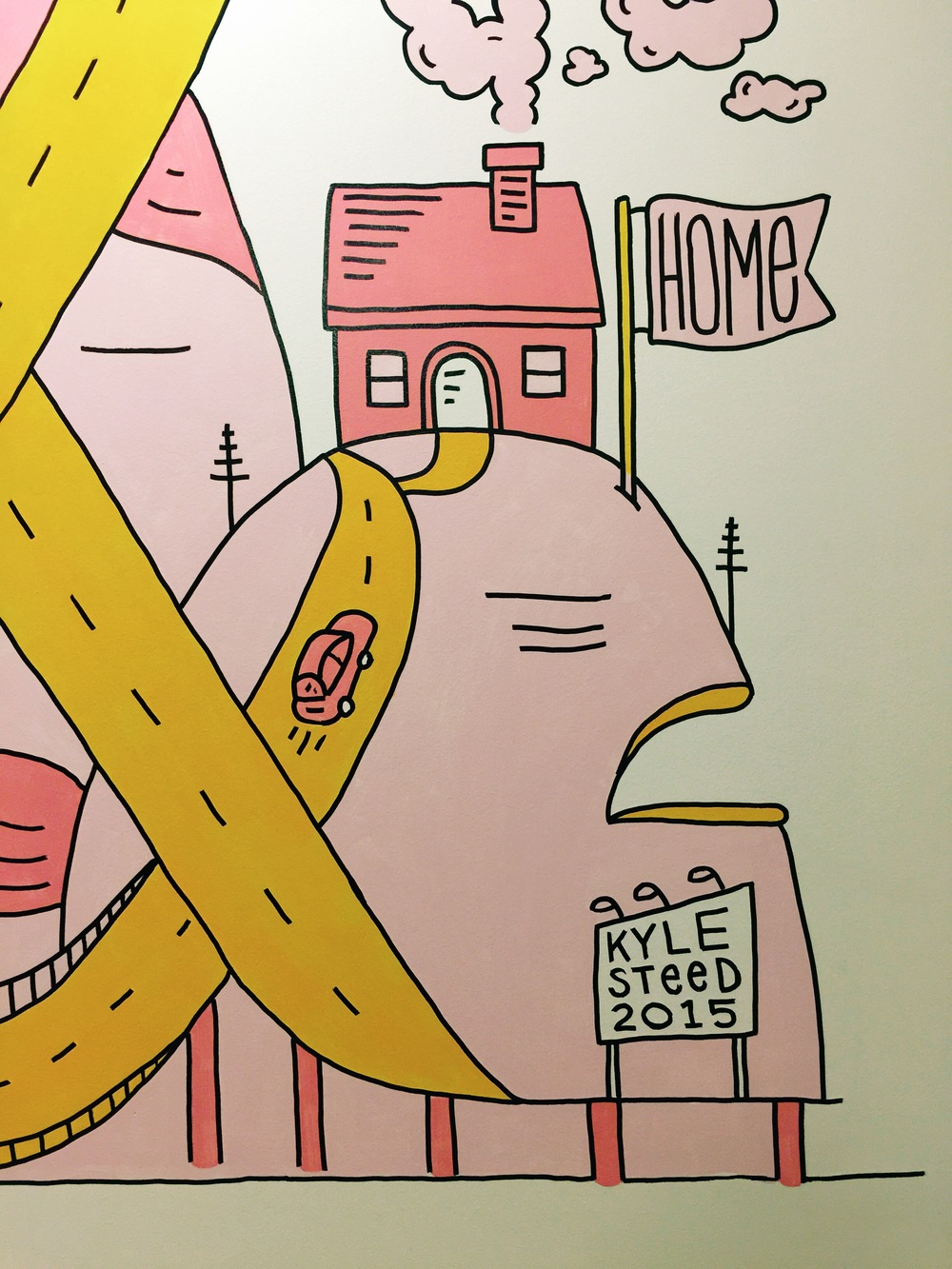 Home Mural Detail for Mr. Cooper Mortgage by Kyle Steed