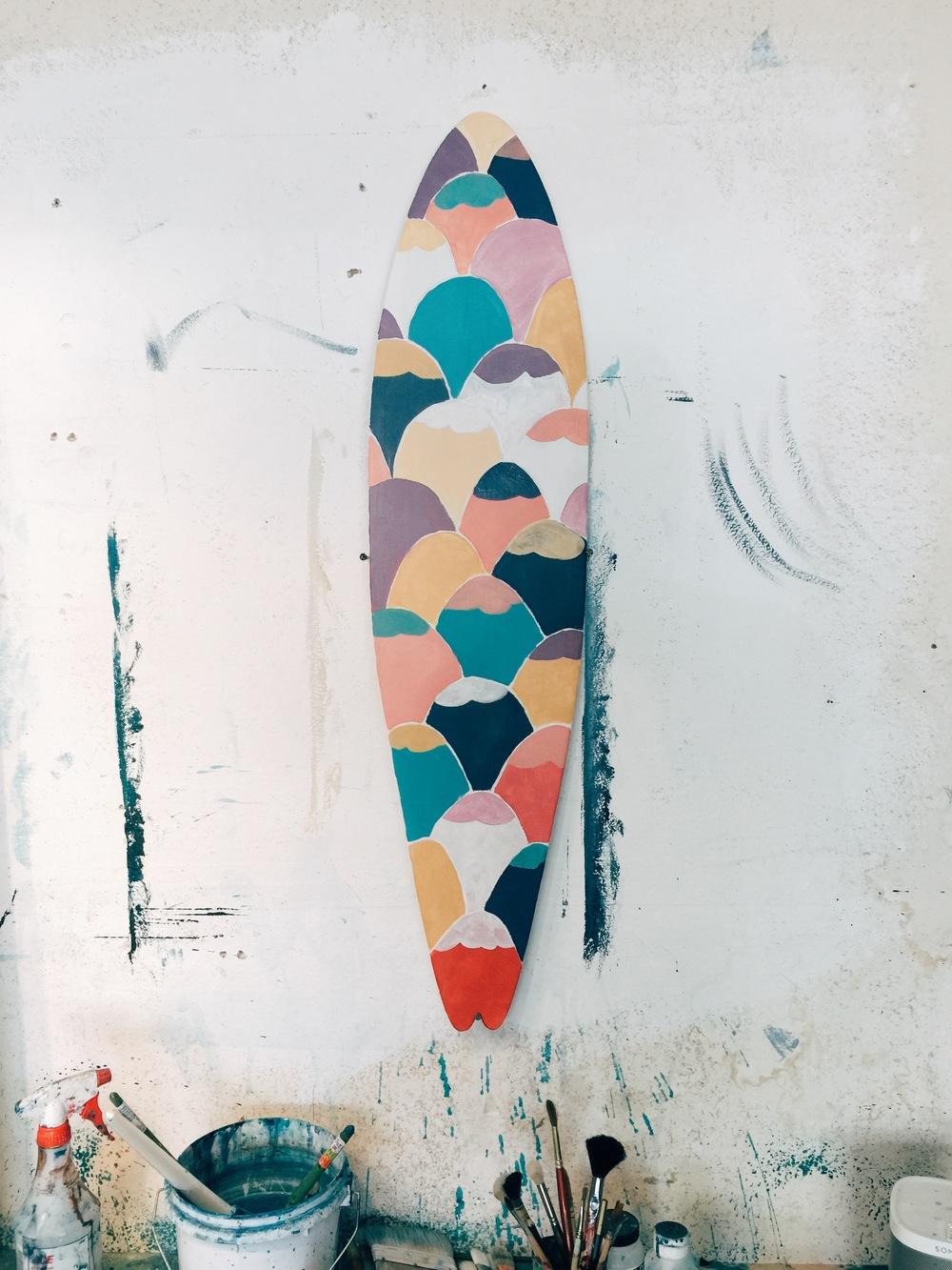 Original Longboard Painting by Kyle Steed