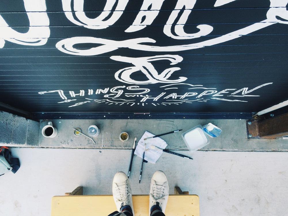 Oak Cliff Coffee Mural by Kyle Steed
