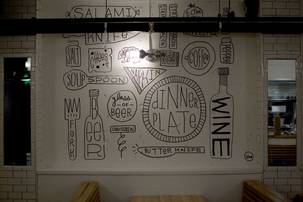 Union Bear Restaurant Mural by Kyle Steed