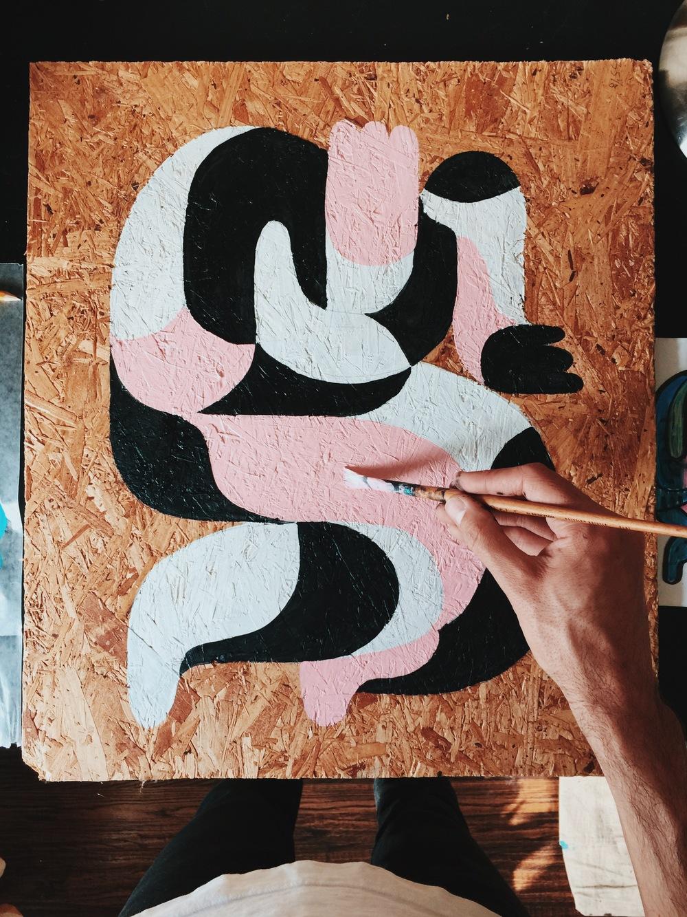 Original Painting on wood by Kyle Steed
