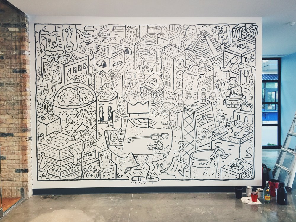 SumoMe Mural in Austin, TX by Kyle Steed