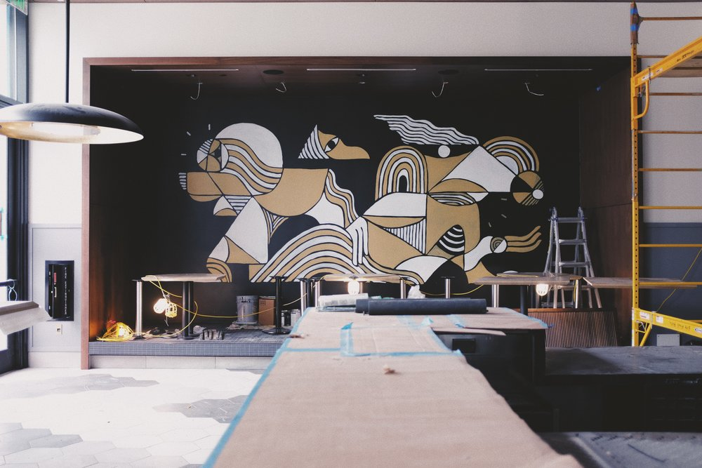 Earls Restaurant Mural at Legacy West Plano by Kyle Steed