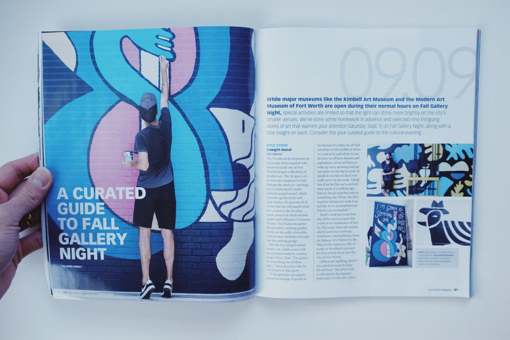 Fort Worth Magazine featuring Kyle Steed