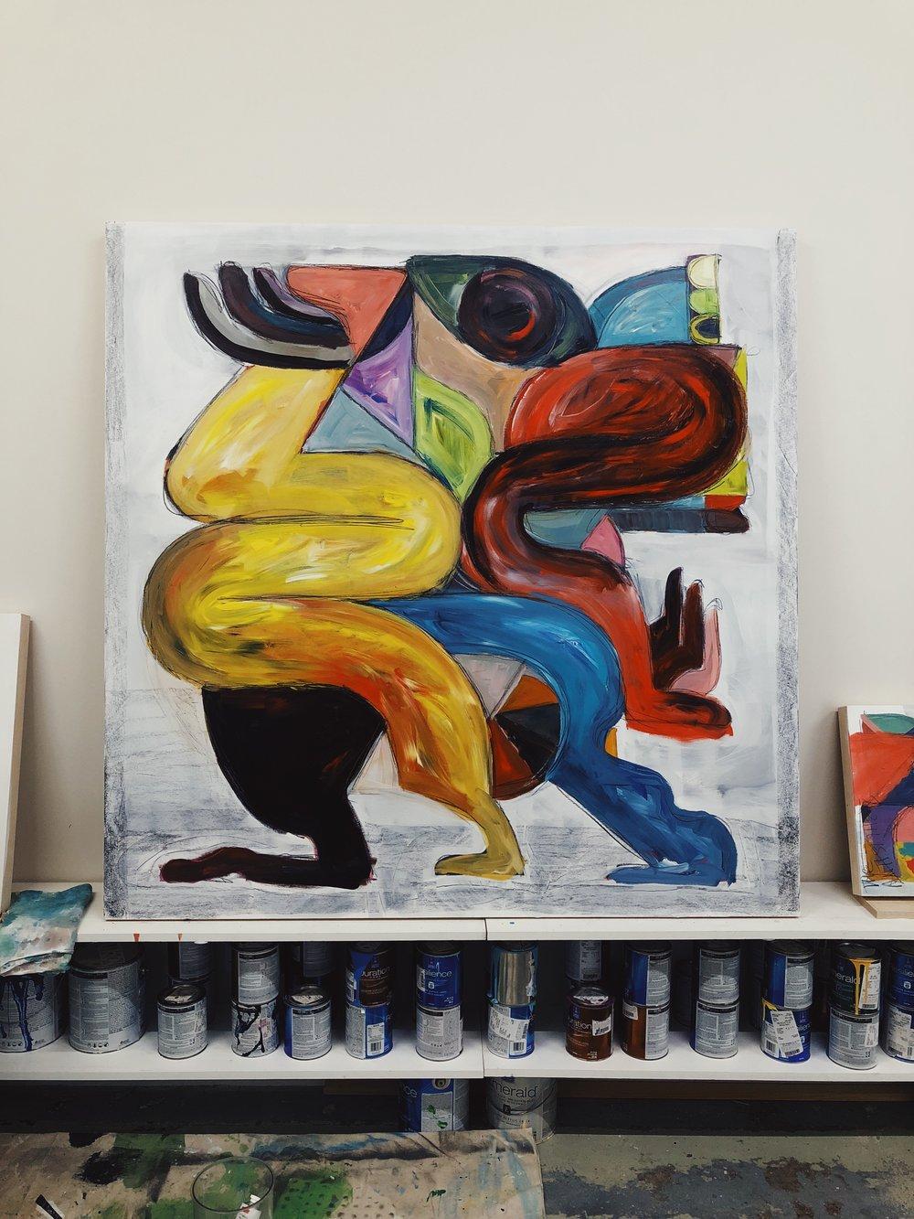 Figurative Painting in Kyle Steed studio