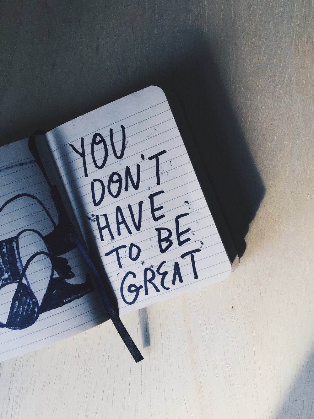You don't have to be great message by Kyle Steed